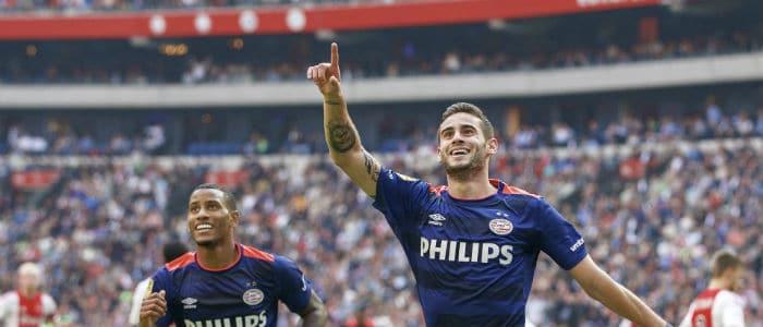 Gaston Pereiro wint met PSV bij Ajax programma eredivisie speelronde 8 vi images