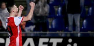 Eredivisie uitslagen speelronde 23: Ajax loopt uit, Feyenoord loopt in
