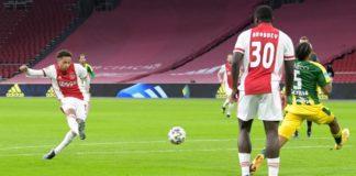 Ajax kan kan over vier speelronden titel Eredivisie pakken